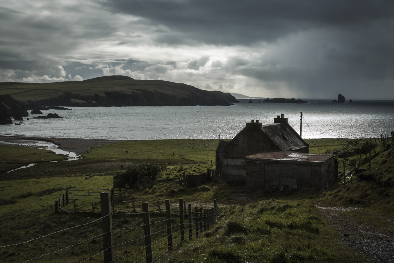 Looking across to Hillswick from Urafirth
