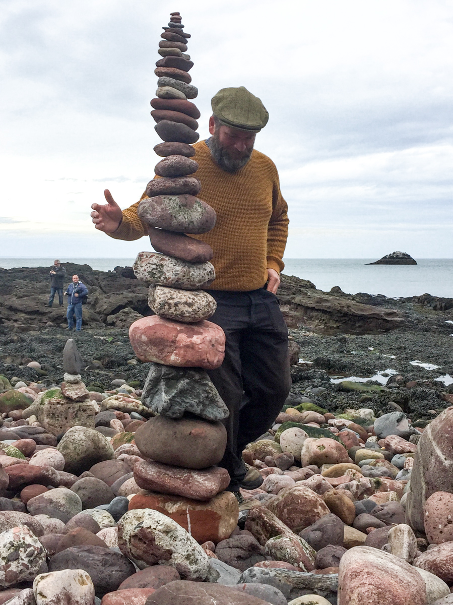James Brunt stone stacking